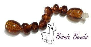 Baltic Amber Beads Extension 5cm - Cognac Coloured