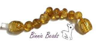 Baltic Amber Beads  Extension 5cm - Honey Coloured