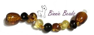 Baltic Amber Beads Extension 5cm - Mix Colours