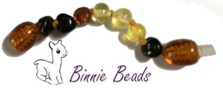 Baltic Amber Beads Extension 5cm - Rainbow Coloured