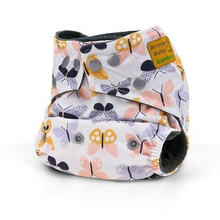 Binnie Baby Bamboo Charcoal Nappy - Butterfly