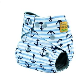 Binnie Baby Bamboo Charcoal Nappy - Sailor