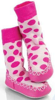 Mocc On BABY Designer - PINK SPOT  50% OFF