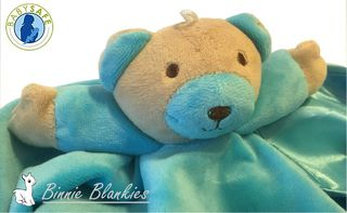 Binnie Blankie - Blue Baby Comforter with Rattle