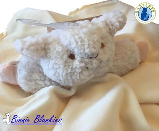 Binnie Blankie - Lucky Lamb Baby Comforter with Rattle