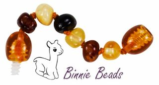 Baltic Amber Beads Extension 5 cm - Multi Coloured