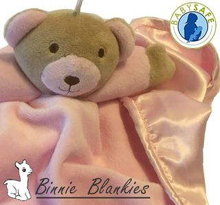 Binnie Blanke - Pink Baby Comforter with Rattle