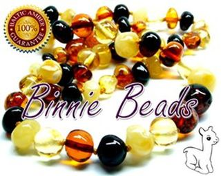 Child's Amber Teething Necklace - Multi Colours