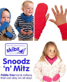 Snoodz & Mitz - Hat + Gloves -- more than 50% OFF