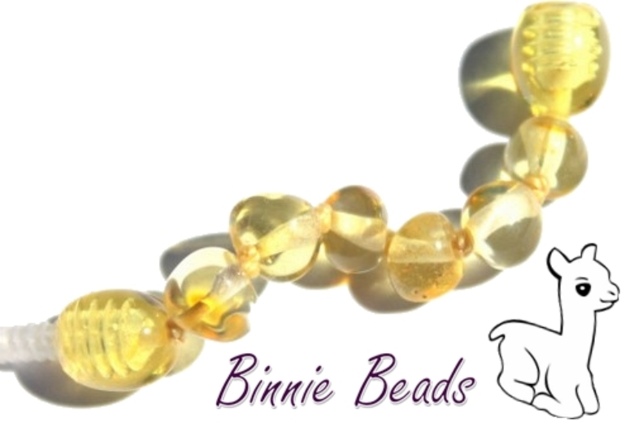 Baltic Amber Beads Extension 5cm - Lemon Coloured