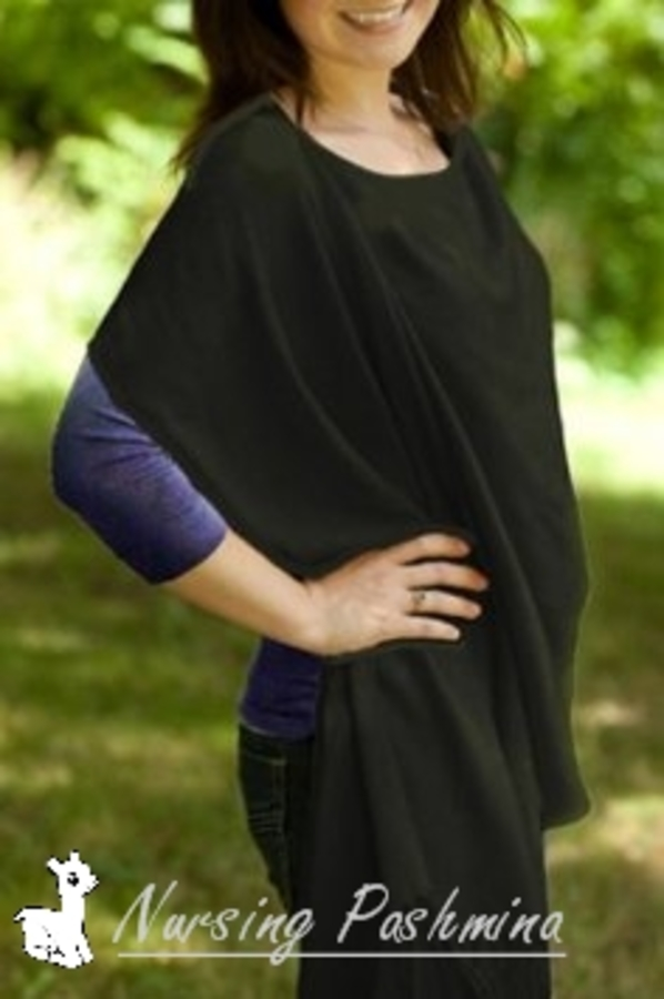 Binnie Nursing Pashmina Shawl - Black