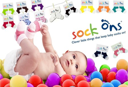 SOCK ONs - 6 to 12mths NEW COLOURS